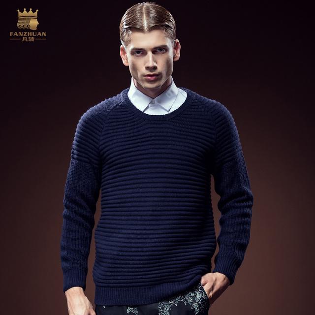 Frete Grátis Masculino ocasional do homem moda outono personalizado dos homens de manga comprida pescoço fino camisola de gola alta simples 5113 à venda