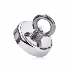 1pcs 120kg Pulling Mounting D60mm strong powerful neodymium Magnetic Pot with ring fishing gear, deap sea salvage equipments
