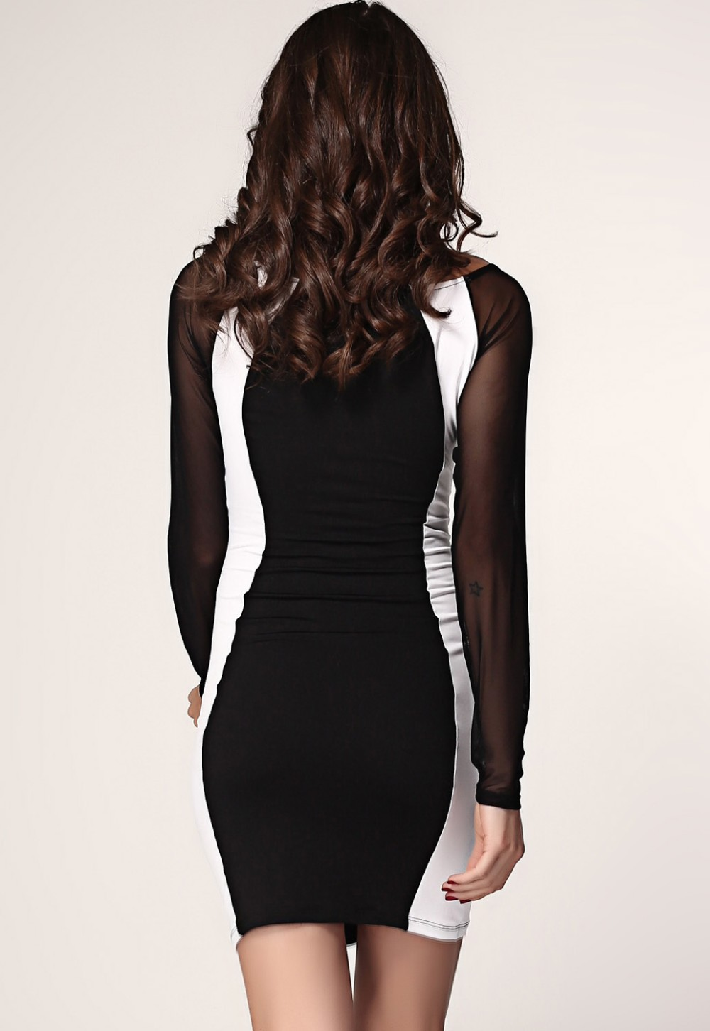 Black-White-Hourglass-Mesh-Long-Sleeves-Bodycon-Dress-LC2970-11691