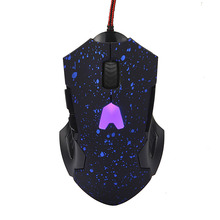6 Buttons Creative Game Mouses Portability 2000 DPI Colorful LED Optical Wired Gaming Mouse Mice For PC Laptop Gamer Jun01