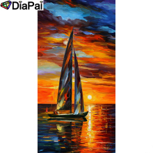 DIAPAI Diamond Painting 5D DIY 100% Full Square/Round Drill Oil painting boat Diamond Embroidery Cross Stitch 3D Decor A23058 diapai 5d diy diamond painting 100