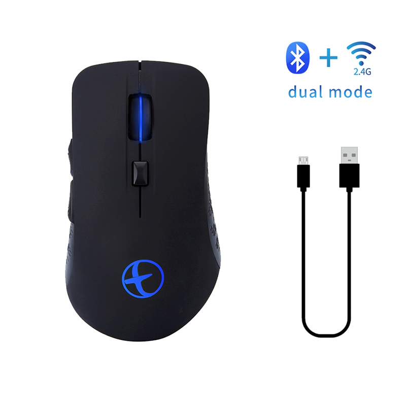 Newest Bluetooth 4.0 & 2.4G Rechargeable Dual-mode Wireless Mouse For PC Light Mute Wileless Mouse For Desktop Notebook Laptop