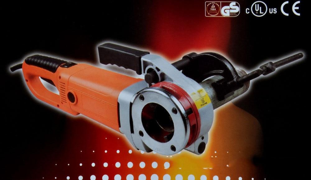 220 В 2000 Вт ручной Электрический рукав машина шарнирная петля резьба оцинкованная трубка рукав