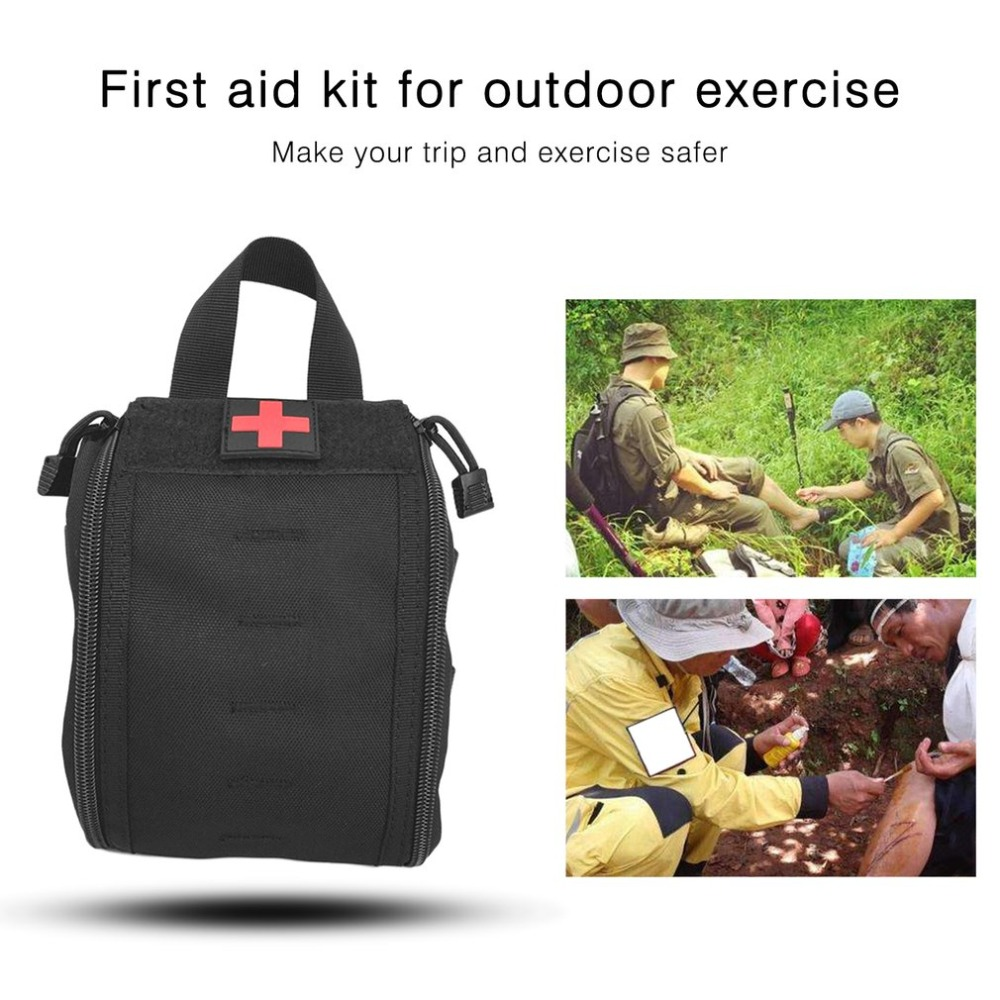 Outdoor Tactical Medical Bag Travel First Aid Kit Multifunctional Waist Pack Camping Climbing Bag Emergency Case Survival Kit first aid kit outdoor travel trauma emergency treatment waist bag tactic style