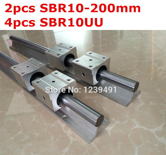 2pcs SBR10  -  200mm linear guide + 4pcs SBR10UU block жидкость sbr oreshek 60мл 0мг