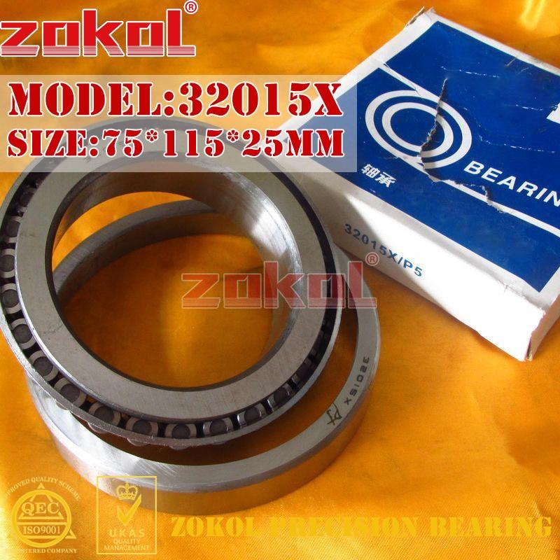 ZOKOL bearing 32015X 2007115E Tapered Roller Bearing 75*115*25mm zokol bearing 32915 2007915e tapered roller bearing 75 105 20mm