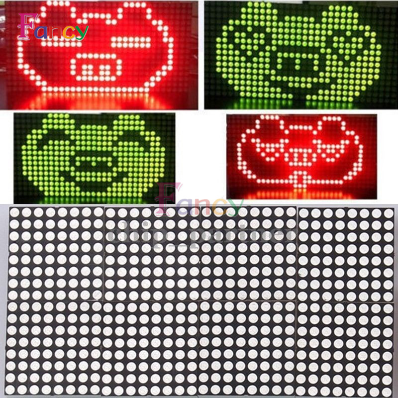 16*32 16x32 Dot Matrix DIY Kit Red Green Dual-Color Control LED Display Module 16 32 16x32 dot matrix control display module diy kit red green dual color control led display module electronic fun kit