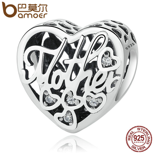 Sterling Silver Openwork MOTHER & SON BOND CHARM
