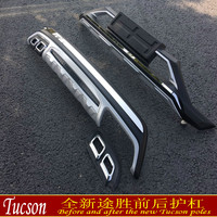 Auto parts Car covers ABS Front + Rear bumper cover trim 2PCS fit For 2015 2017 Hyundai Tucson Car styling