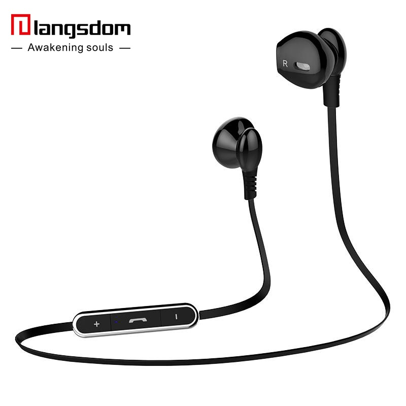 Original Langsdom L5 Wireless Bluetooth 4.1 Stereo Earphone Fashion Sport Running Headsets Studio Music Headset with Microphone fw1s 2016 new arrival q9 wireless bluetooth 4 1 stereo earphone sport running studio free shipping
