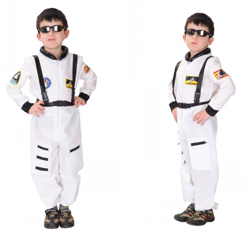 halloween costume for kids police boys astronaut costume children Cosplay Jumpsuit Masquerade Carnival Party clothes dance child