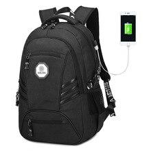 AOLIDA Marke Männer Rucksack Oxford Große Kapazität Schultasche Für Jungen Schulrucksack Für Jugendliche USB Lässig Reise Laptop Taschen