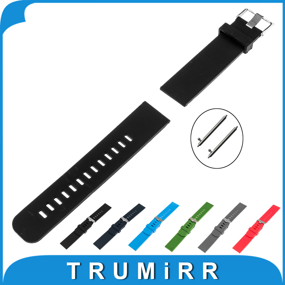 17mm 18mm 19mm 20mm 21mm 22mm Silicone Rubber Watch Band + Tool for Armani Watchband Quick Release Strap Wrist Belt Bracelet silicone rubber watchband double side wearing strap for armani ar watch band wrist bracelet black blue red 21mm 22mm 23mm 24mm