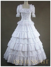 Classic White Long Prom Gothic Lolita Ball Gwons