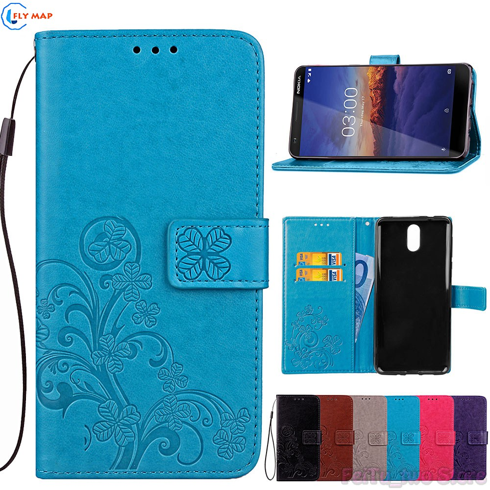 Case for <font><b>Nokia</b></font> 3.1 31 TA-1063 TA 1063 1070 Wallet Flip Phone PU Leather Cover for Nokia3.1 <font><b>TA1063</b></font> TA-1070 TA-1074 Silicone Box image