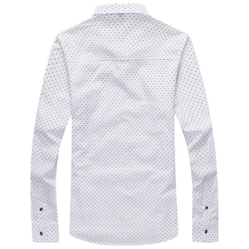 NYE Mænd Casual Shirt Fashion Slim Dot shirts Langærmet skjorte - Herretøj - Foto 2
