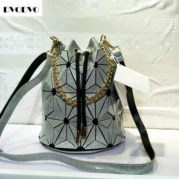 DVODVO Hot Sale BaoBao Bag Folding Fashion Shoulder Handbags Bao Bao  Casual Women Tote Top Drawstring Handle Bags High Quality baobao bag women folded geometric plaid bag bao bao fashion casual tote women handbag mochila shoulder bag top handle sac a main
