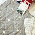 110*110 Centímetros Colcha de Bebê Estilo Nórdico Face Berço Algodão Primavera Colcha de Enchimento de Fibra de Bambu Ar Condicionado Respirável Legal Quilt