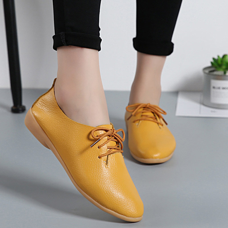 Women flats genuine leather summer casual comfortable women shoes solid lace-up shoes woman female ladies shoes tenis feminino beautyfeet women shoes female genuine leather lace up casual shoes woman flats white shoes candy color breathable ladies shoes