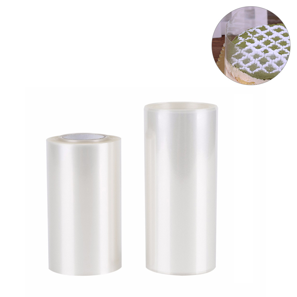 Transparent Clear Mousse Surrounding Edge Wrapping Tape For Baking Cake Collar Roll Packaging DIY Cake Decorating Tools