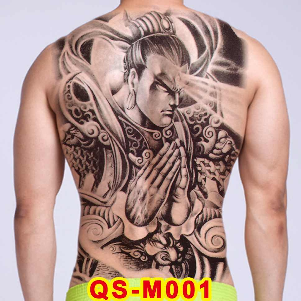 Tattoo Tribal Designs Gothic Tattoo Boys Full Back Large Tattoo Body Stickers Temporary Tattoos Men Sexy Fake Tatoo Big Water Aliexpress