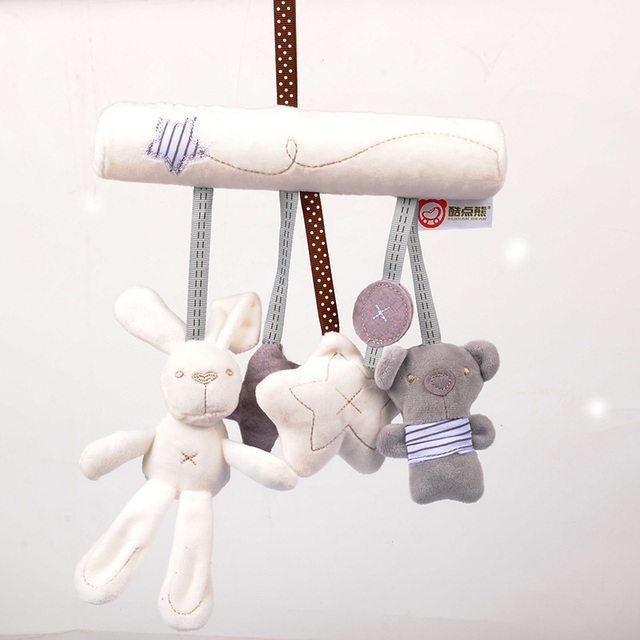 Cute Baby Mobile Musical Crid Bed Toy Newborn Bear Plush Stuffed Rattles For Stroller Baby Toys 0-12 Months — BYC030 PT30