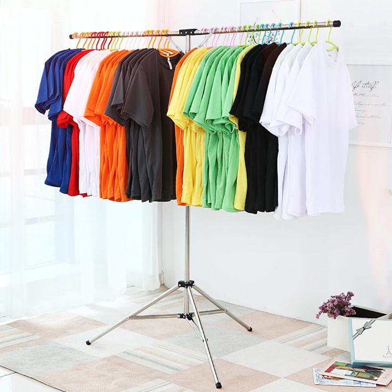 1 Pc Acier Inoxydable Type T Cintre Télescopique Fois Clothingorganizer Rack Mode Vêtements Cintres Clothingrack Garmentrack