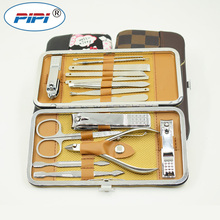 Stainless steel Manicure Set Nail Care Tools Pedicure Nail Clipper Kit with Mini Finger Nail Cutter File Scissor