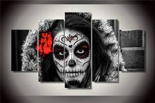 Hd Gedruckt Tag Der Toten Gesicht Gruppe Malerei Leinwanddruck Raumdekor Poster Drucken Bild Leinwand Freies Verschiffen/Ny-2884 Abbildung