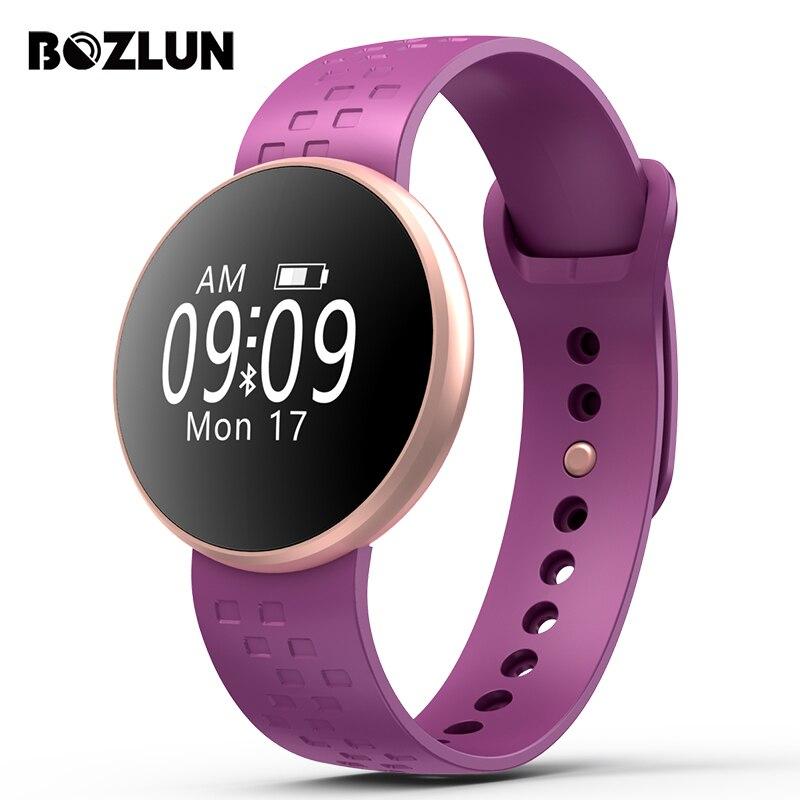 BOZLUN mujer reloj elegante de las mujeres Sport pulsera SmartWatch Monitor de ritmo cardíaco impermeable Bluetooth mensaje recordatorio reloj