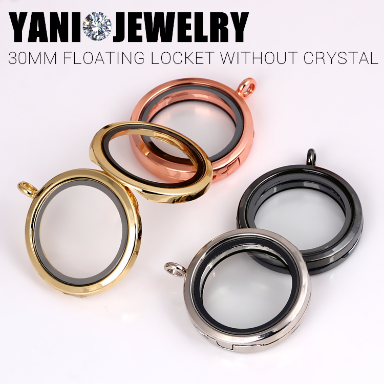 Free Shipping Lowest Price 30mm Round Magnet Magnetic Photo Memory Glass Living Floating Locket Pendant
