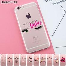 Здесь можно купить   K292 Fashion Makeup Soft TPU Silicone  Case Cover For Apple iPhone 7 6 6S Plus 5 5S SE 5C 4 4S Mobile Phone Accessories & Parts