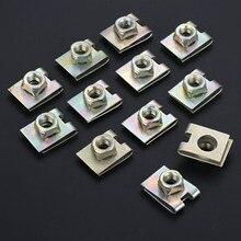 20 piezas tuerca de placa tipo U de resorte de Metal clips de velocidad M6 para piezas de sujetadores automotrices de defensa de Panel de coche