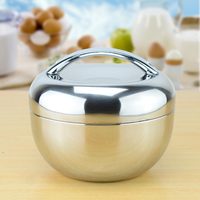 1 3 Liter Double Wall Stainless Steel Apple Lunch Box 4pcs Lot