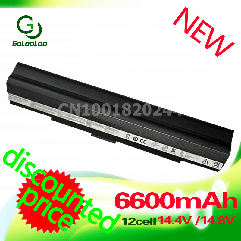 Golooloo 12 cells Laptop battery for Asus A42-UL80 U30 U35 UL30 U45 UL30A UL50 Pro32 X5G A41-UL50 A41-UL80 A42-UL30