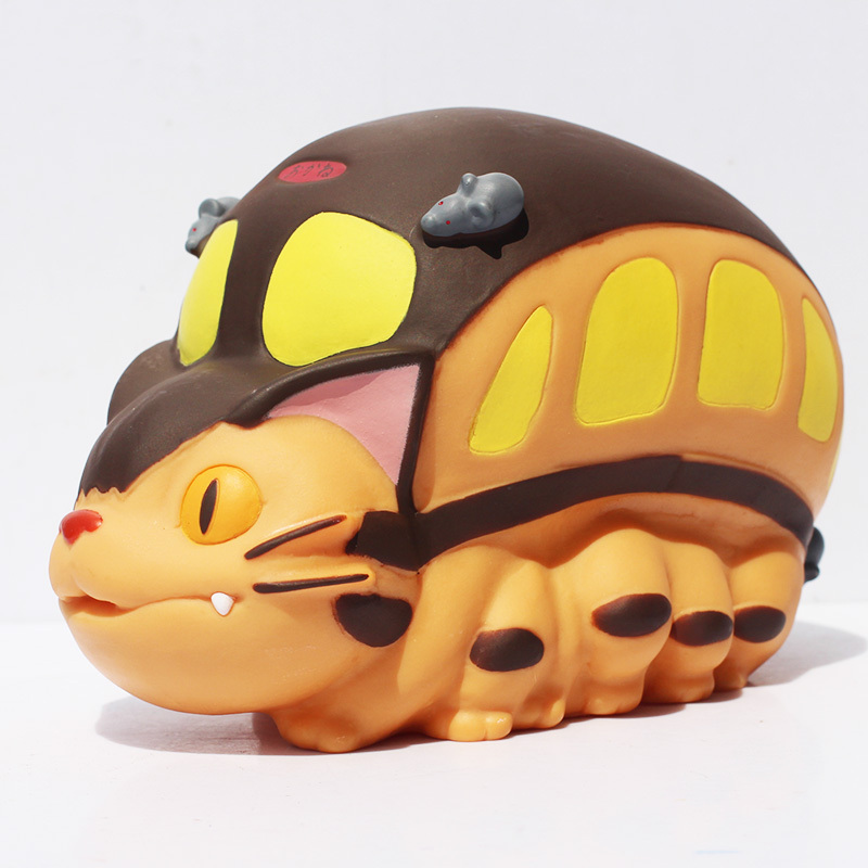 Lovely Anime My Neighbor Totoro Cat Bus Piggy Bank Coin Bank Vinyl Doll Brithday Gift For Kids Free Shipping  цены