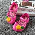 Mini melissa новый 2017 дети дышащий ананас сандалии девушки милые противоскользящие пляжная обувь детские малыш дети квартиры желе обувь
