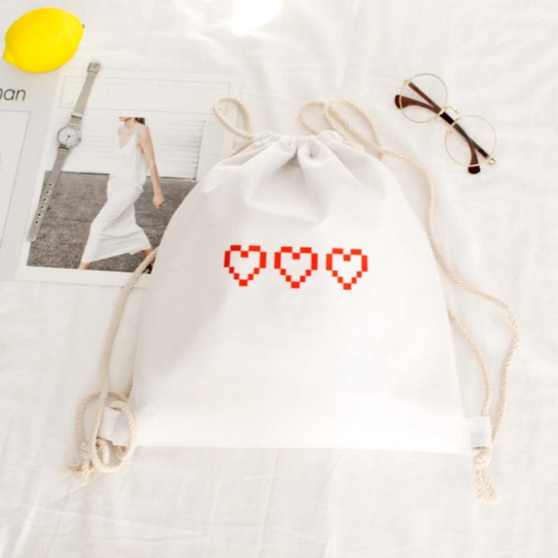 Canvas Drawstring Bags School Bag For Teenagers Backpacks Drawstring Backpack Shopping Travel Bag