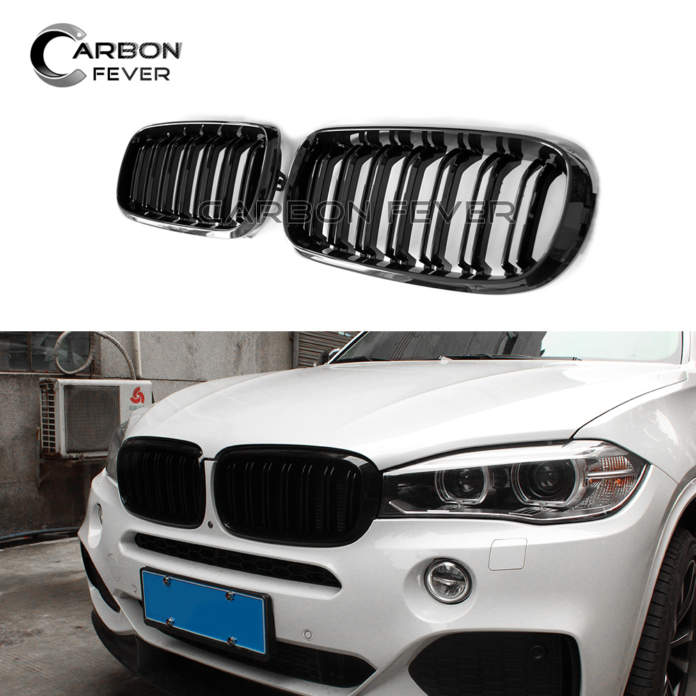 Us 46 2 12 Off 2 Slat Auto Replacement Parts Racing Grills For Bmw X5 X6 Series F15 F16 2015 Present Exterior Part A Pair Kinedy Front Grille In