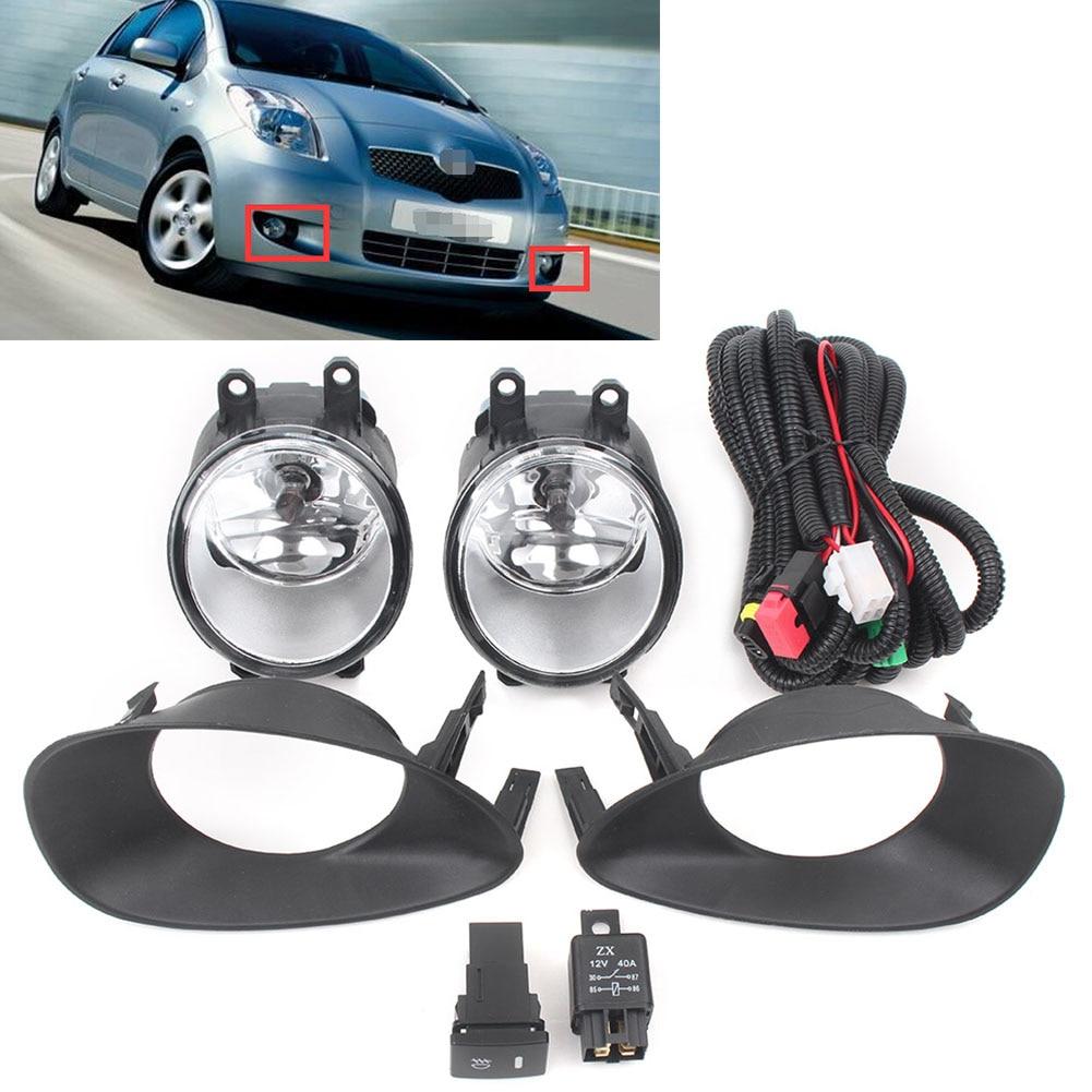 Auto Car Fog Driving Lights Bumper Fog Lamp Kit For Toyota Yaris Hatchback 2006 2007 2008