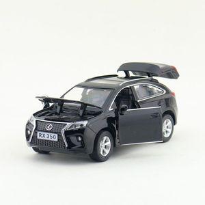Image 4 - Scala 1:32 Lexus RX350 SUV Sport Toy Car Diecast modello di veicolo tirare indietro suono e luce collezione educativa regalo per bambino