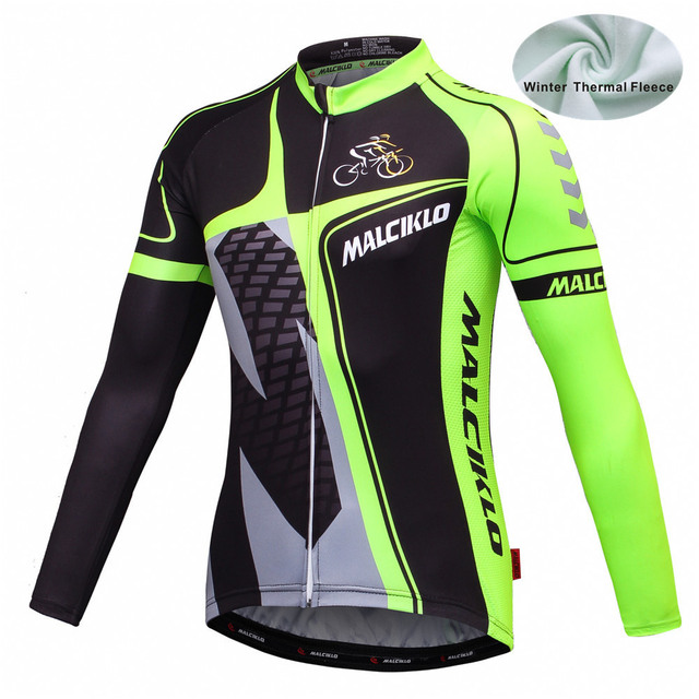 f74b99519cb 2016 MALCIKLO Men trekking Winter Fleece Thermal Long Sleeves Cycling  Jersey Ropa Ciclismo MTB road Bike cycling winter clothing