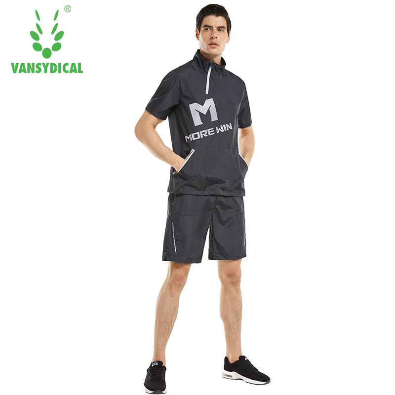 Short sleeved sweaty suit, male summer running fitness exercise, heat explosion sweat suit shorts, two sets of sweat kits.