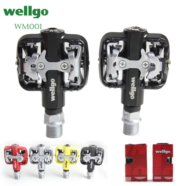 8e9f0ab056a Wellgo WM001 MTB Mountain Bike Clipless Pedals Cycling Aluminum Alloy High  Quality Road Bicycle Pedal