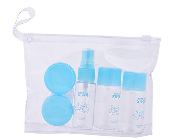 Travel Mini font b MakeUp b font Container Bottle Plastic Transparent Empty Eyeshadow font b Makeup