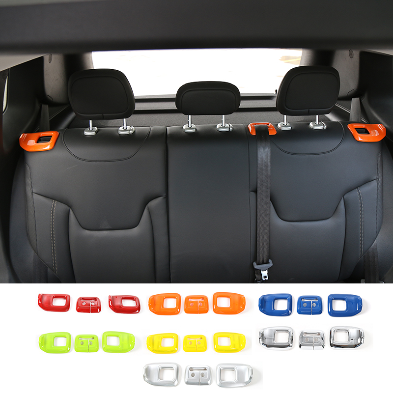 MOPAI Newest Designs ABS Rear Seat Adjustment Decoration Cover Sticker Fit For Jeep Renegade 2015 Up Car Styling luhuezu abs chromed door handle cover handle bowl cocver for jeep renegade accessories 2015 2016