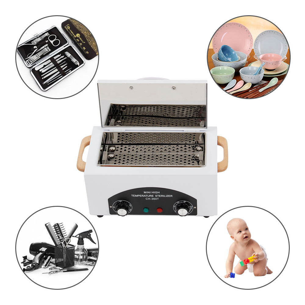 EU Professionelle Sterilisator Box Nail art Salon Hohe Temperatur Sterilisator Maniküre Trockene Hitze Desinfektion Schrank für instrumente