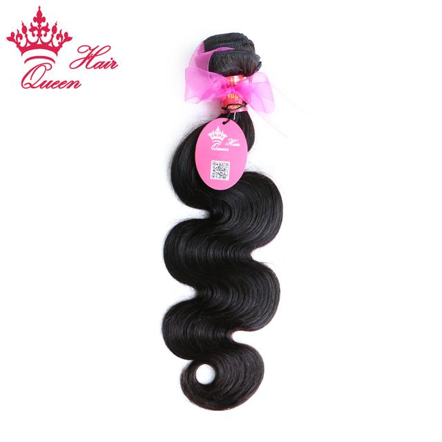 """Queen hair products brasileiro extensões do cabelo da onda do corpo do cabelo virgem 1 pcs lote 8 """"a 30"""" disponível DHL Frete Grátis"""