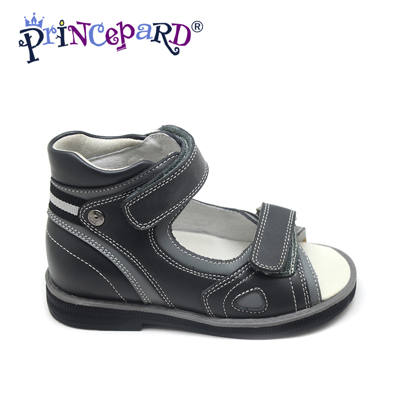 Princepard Need Customize in Advance 20 bays 2018 black New boys orthopedic footwear for child scientifica flat foot why boys need parents