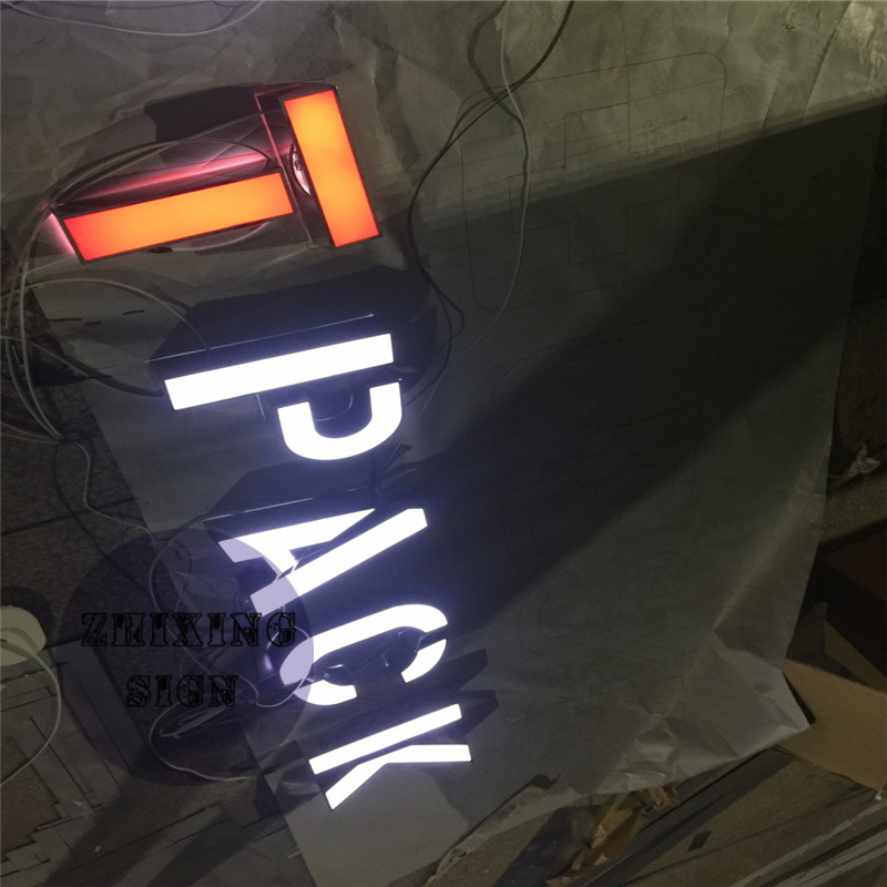 Factoy Outlet Outdoor Acrylic LED Lit 3d Signs